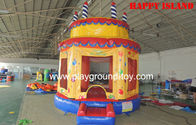 Best Birthday Cake Outdoor Inflatable Bouncers , Bounce House Inflatables  Castle For Kids RQL-00506 for sale