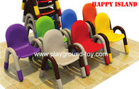 China Early Childhood Classroom Furniture Kids Chair Plastic Pipe Frame PP Plastic Material distributor