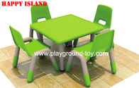 Best Imported Plastic Kindergarten Classroom Furniture Square Learning Table for sale