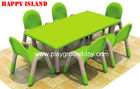 China Kindergarten PP Plastic Rectangular Table For Nursery School Children distributor