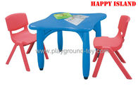Best Day Care Centre Kindergarten Classroom Furniture Square Table With Plastic Material for sale