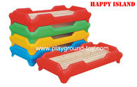 China Kindergarten Classroom Children Bed Furniture Plastic / Wood Bed Preschool  Day Care distributor