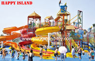 Best Custom Water Park Equipments Wave Slide ,  Fiberglass Water Slides 12m Height for sale