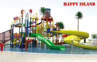 China Custom 12.5m Galvanized Steel Pool Water Slides For Amusement Park distributor