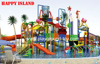 Best Commercial Water Slides , Fun Water Parks Customized Outdoor Fiberglass Kids for sale