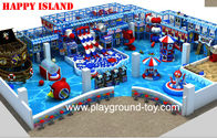 Best New design Indoor Playground Equipment For Sale With Big Ball Pool And Three Big Plastic Slide In line for sale
