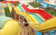 China Multi-Slides Rainbow GRP Water Park Equipments , Custom Water Slides From Top Classic Water Park distributor