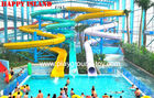 Best Galvanized Steel Water Park Equipments Kids' Body Water Slides Fiberglass Pool Slides for sale