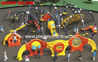Best Outdoor Kids Climbing Equipment , Childrens Climbing Equipment With Frames And Climbing Security Fence for sale