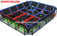 China Professional Big PVC Trampolines For Kids For Indoor And Outdoor distributor