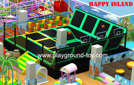 China Indoor Trampoline For Kids , Trampoline With Enclosure Jumping Products For Children distributor