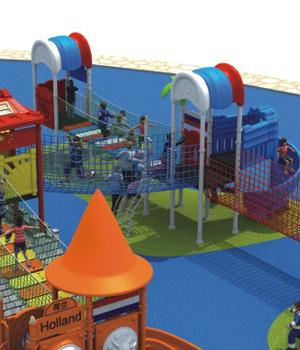 Customiezed Commercial Children Playground Equipment For  Preschool