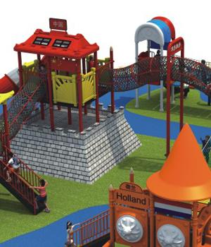 Food Class Material Outdoor Playground Equipment For Schools