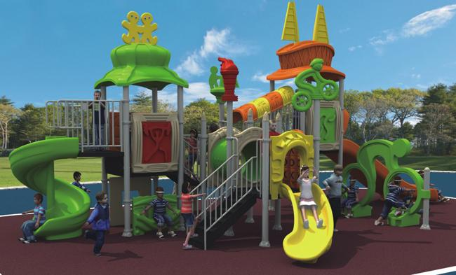 Sport Series Playground Equipment Slides , Recycled Play  Equipment For Children