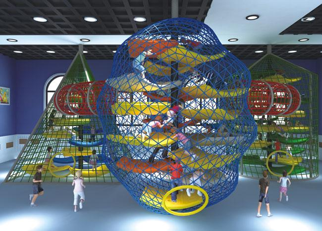 Anti Decay  Color Adventure Playground Equipment For Park / School /  Mall