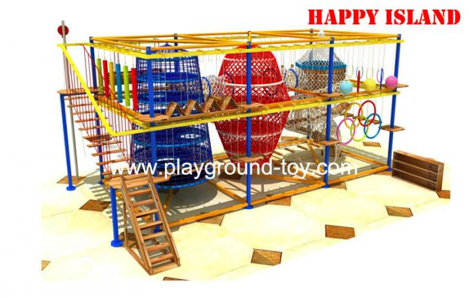 International Certification Adventure Playground Equipment For Park / School /  Mall