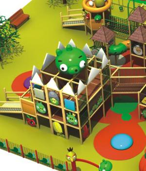KFC Kids Residential  Indoor Playground Equipment With EU Standard