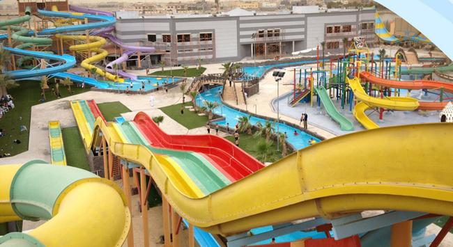 Multi-Slides Rainbow GRP Water Park Equipments , Custom Water Slides From Top Classic Water Park