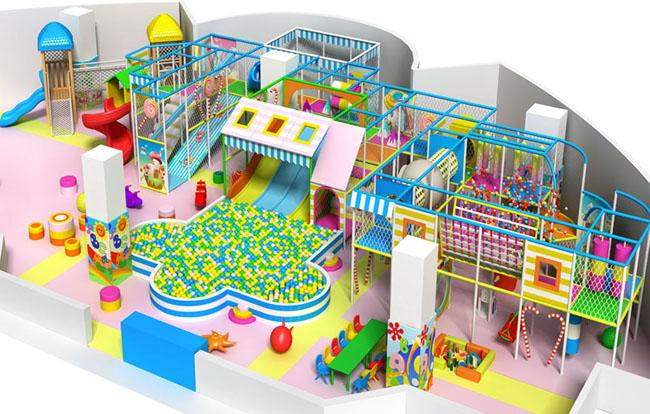 Playful Large Indoor Playground Equipment For Kids Around 2 ~ 15 Years Old With EU Standard