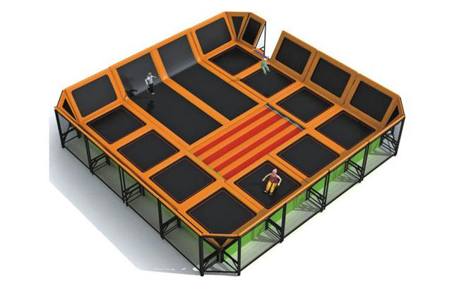 Attractive Design Large Trampolines For Kids Indoor And Outdoor RKQ-5123B