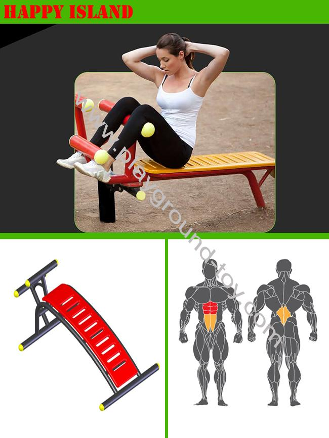 Outdoor Gym Equipment , Outside Gym Equipment For Park Single Abdomen