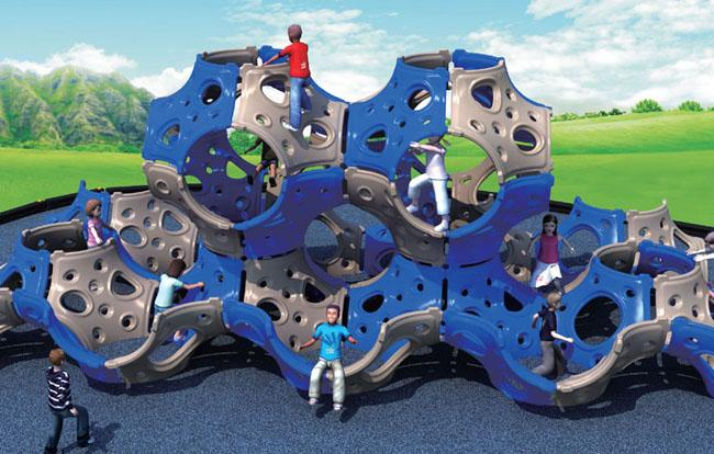 Outdoor LLDPE Plastic Kids Climbing Equipment For Leisure Garden Park Use
