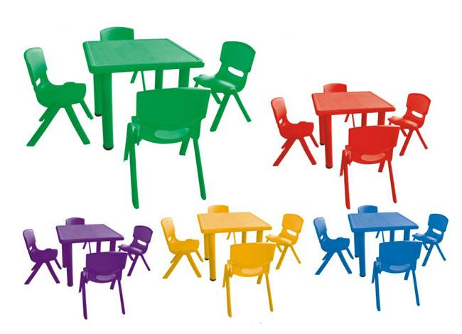 Imported Plastic Kindergarten Classroom Furniture Square Learning Table