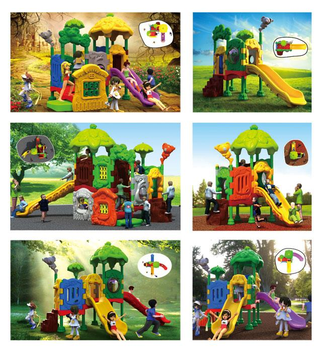 CE Approved Mcdonald's Full Plastic Playground Kids Toys Europe Market Welcomed