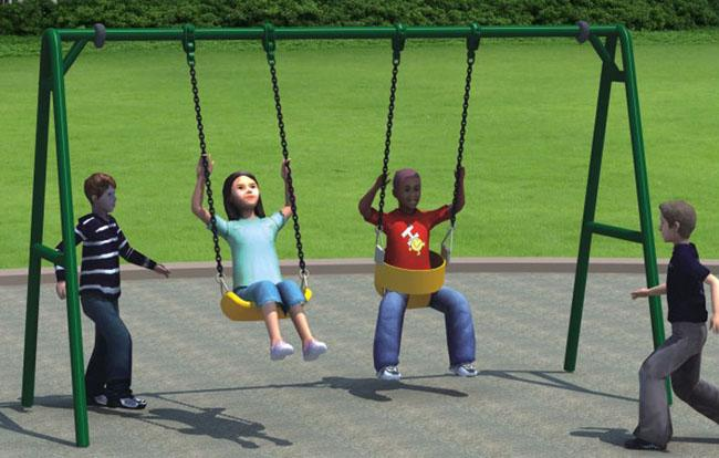 a Frame Swing Set  Steel Post Children Swing Playground Equipment For Amusement Park